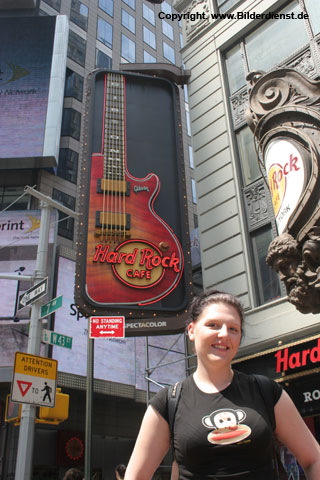 Erinnerungsfoto am Hard Rock Cafe, New York City