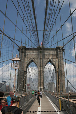 Die Brooklyn Bridge in New York! Foto: Berthold Stamm